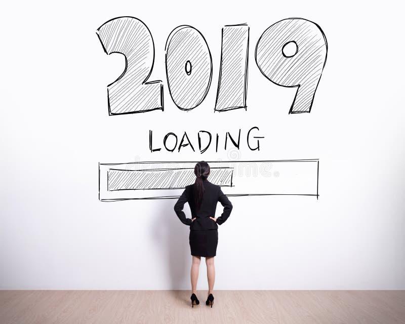 Neues Jahr lädt jetzt stockbild