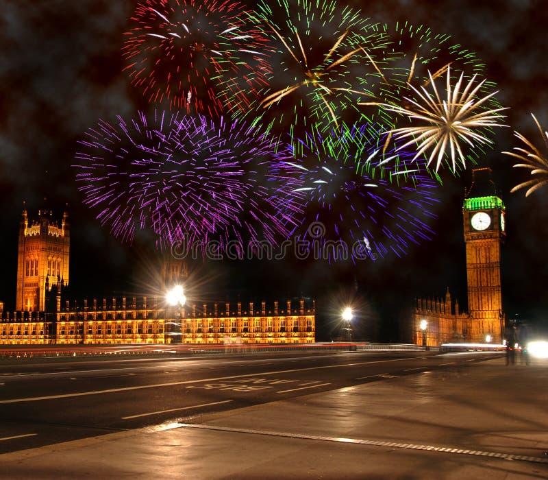 Neues Jahr in London stockbild