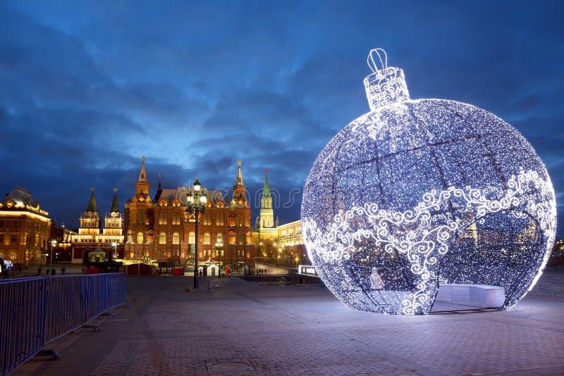 Neues Jahr in Moskau stockbilder