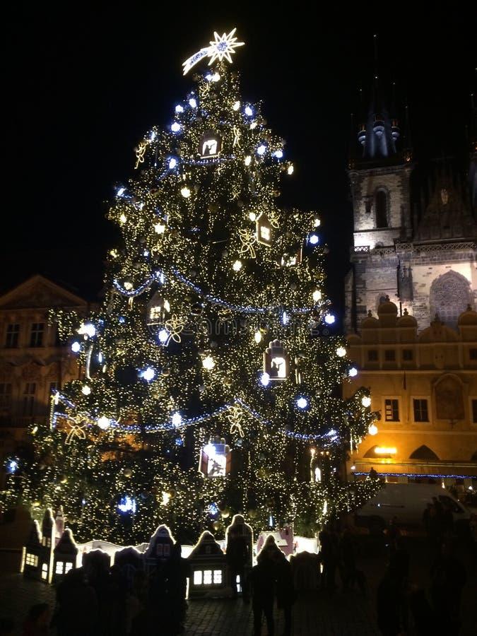 Neues Jahr in Prag stockbild