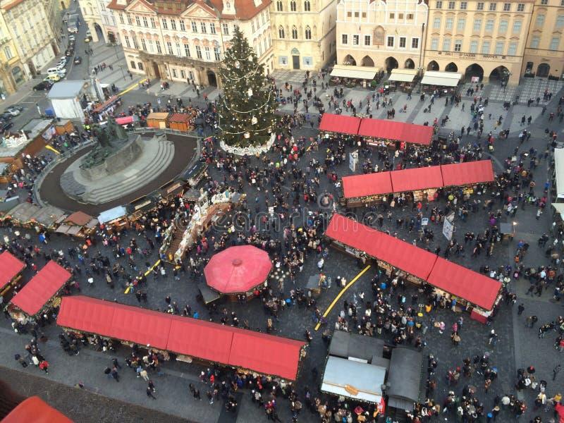 Neues Jahr in Prag stockfotografie