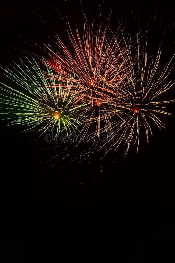 Neues Jahr ` s Eve Fireworks stockfoto