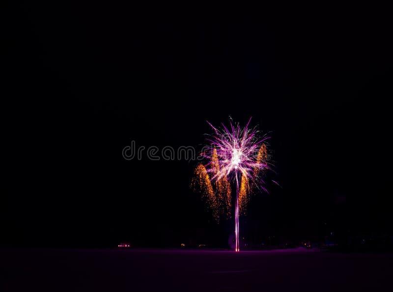 Neues Jahr ` s Feuerwerke Foto von Finnland stockfotos