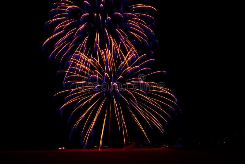 Neues Jahr ` s Feuerwerke Foto von Finnland stockfoto