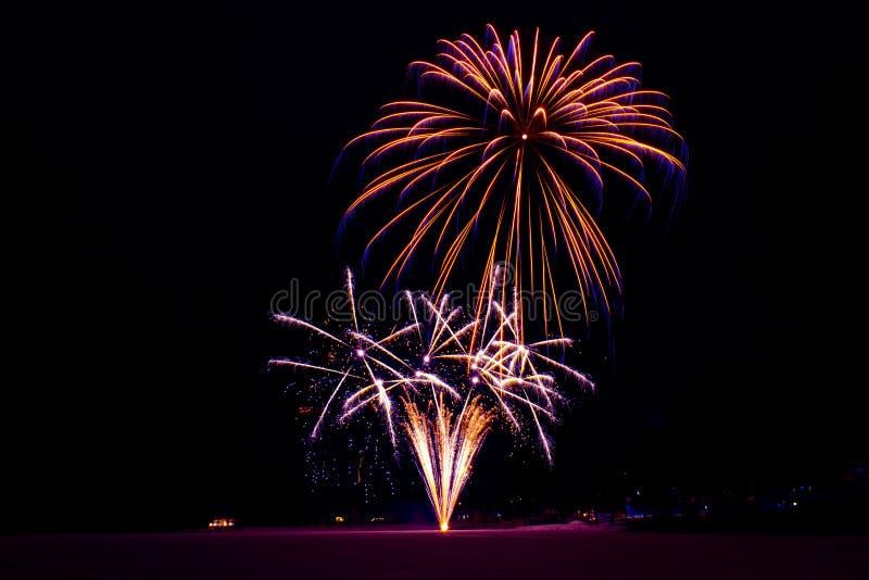 Neues Jahr ` s Feuerwerke Foto von Finnland stockbilder