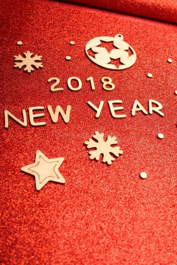 Neues Jahr ` s Grußkarte 2018 stockfotografie