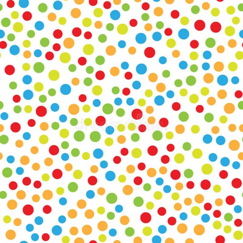 Neues Jahr ` s nahtloses Muster mit Mehrfarbenpunkten vektor abbildung