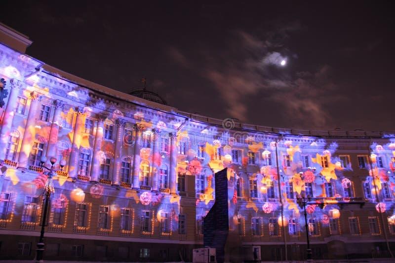 Neues Jahr in St Petersburg lizenzfreie stockbilder
