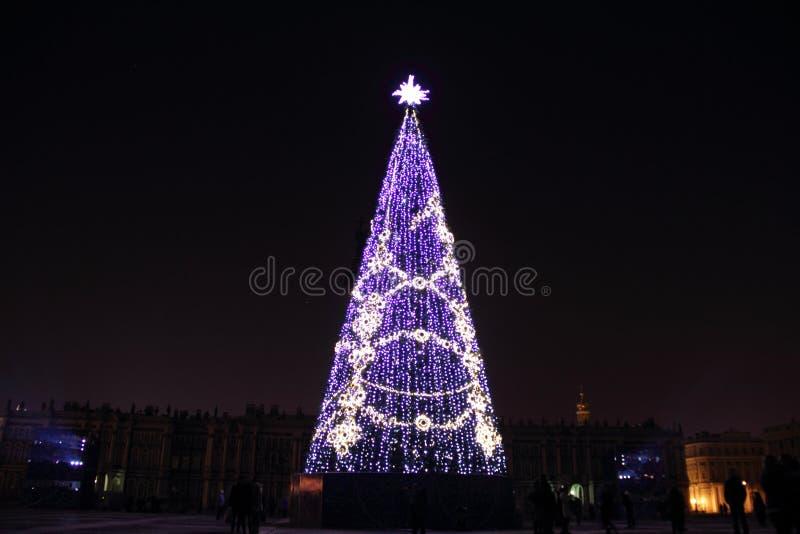 Neues Jahr in St Petersburg stockfotografie