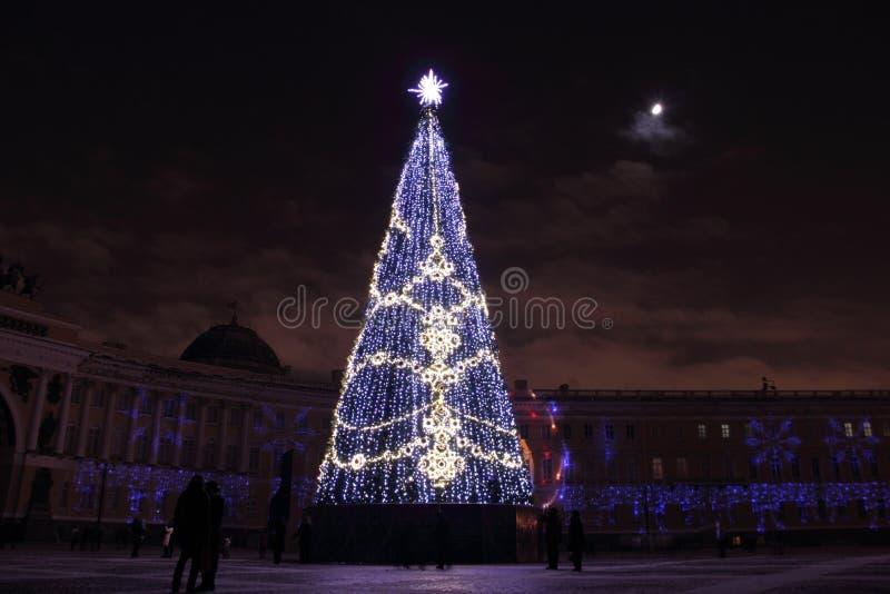 Neues Jahr in St Petersburg stockfoto
