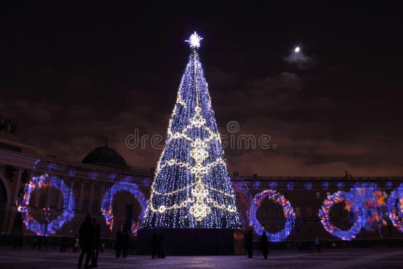 Neues Jahr in St Petersburg stockfotos