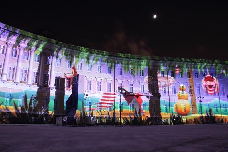 Neues Jahr in St Petersburg stockbild