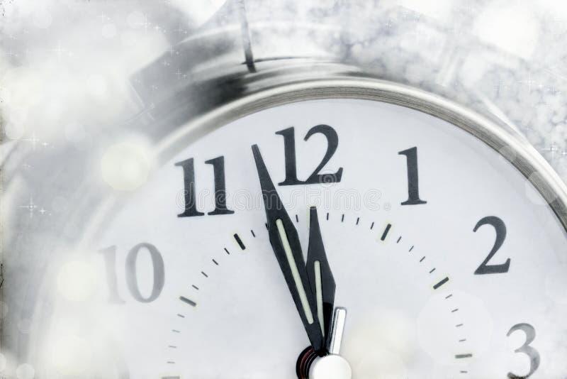Neues Jahr-Uhr lizenzfreie stockfotos