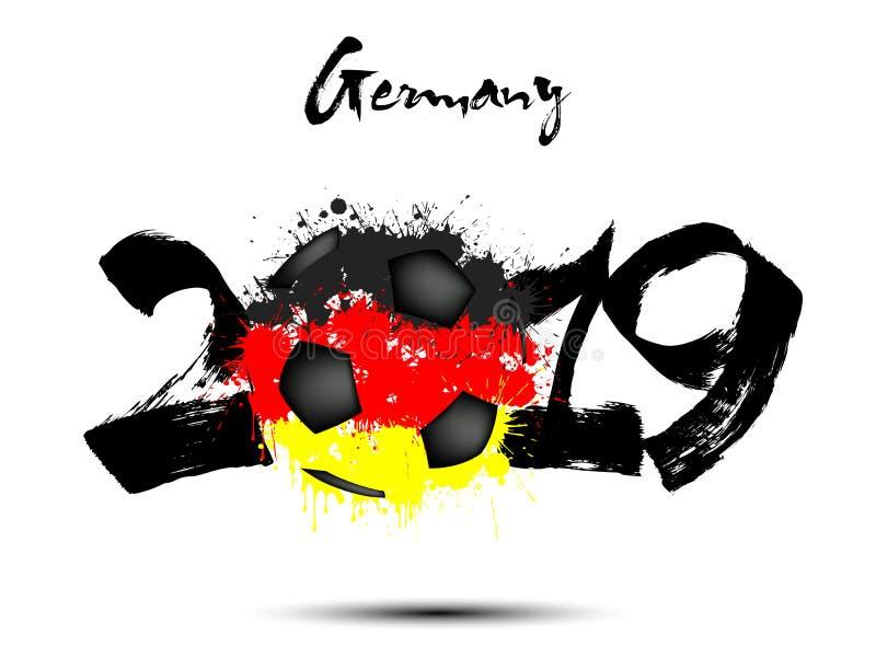 Flagge Von Deutschland Als Abstrakten Fussball Vektor