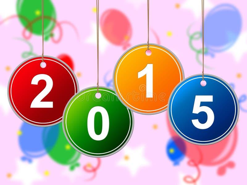 Neues Jahr zeigt zwei Thosand fünfzehn und Jahrbuch an lizenzfreie abbildung