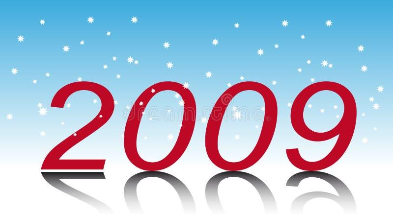 Neues Jahr. Zwei tausend und neun vektor abbildung
