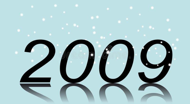 Neues Jahr. Zwei tausend und neun stock abbildung