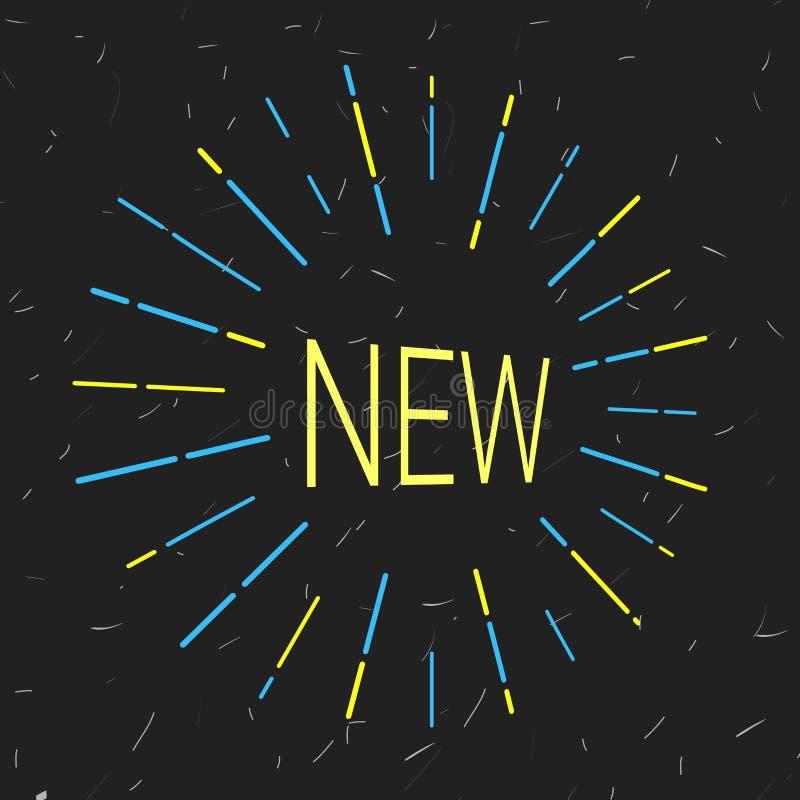Neues Logo, das Aufmerksamkeit erregt lizenzfreie abbildung