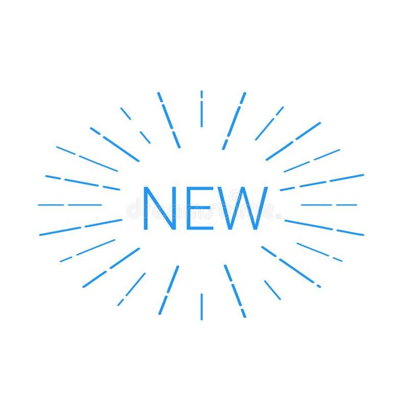 Neues Logo, das Aufmerksamkeit erregt vektor abbildung