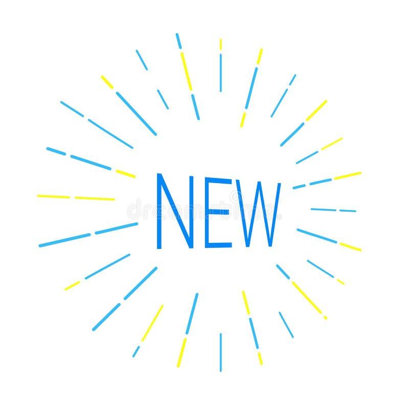 Neues Logo, das Aufmerksamkeit erregt stock abbildung
