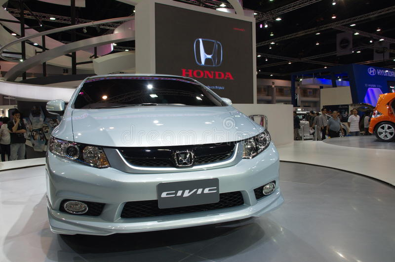 Neues Modell Honda Civics stockfoto