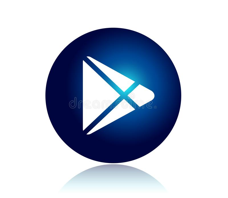 Neues modisches Logo der Social Media-Ikone lizenzfreie abbildung