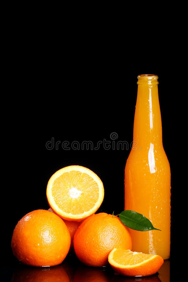 Neues Orangensaftgetränk lizenzfreie stockfotografie