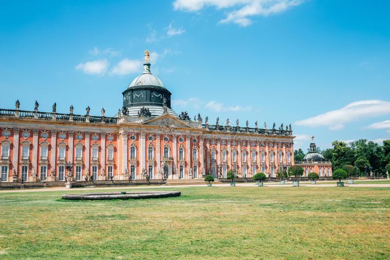 Neues Palais New Palace at Sanssouci park in Potsdam, Germany. Historic architecture royalty free stock photos