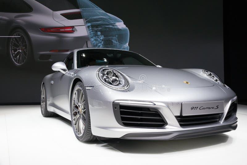 Neues Porsche 2016 911 Carrera S stockfotografie