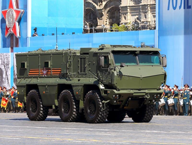 Neues russisches Transportgepanzertes fahrzeug stockbild