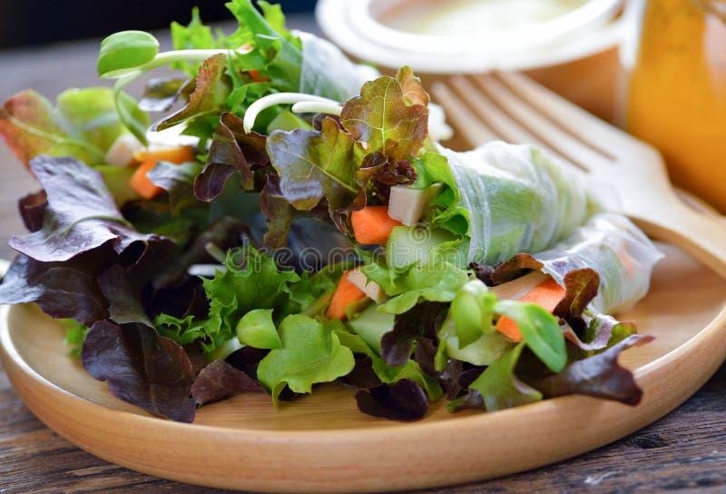 Neues Salatrollengesundes Lebensmittel stockfotos