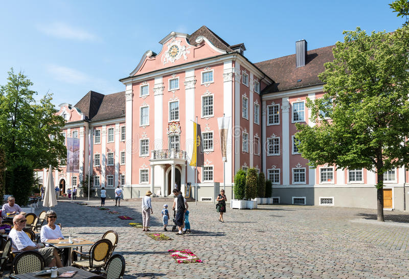 Neues Schloss in Meersburg stockfotos
