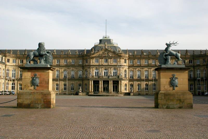 Neues Schloss in Stuttgart stockfotos