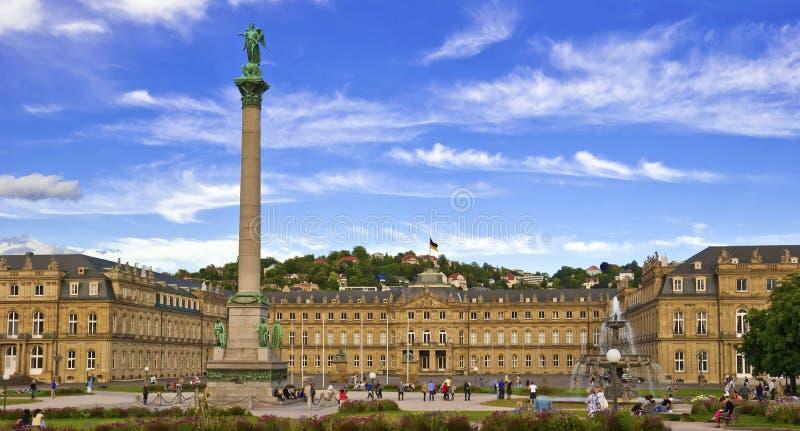 Neues Schloss, Stuttgart lizenzfreie stockbilder