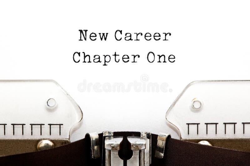 Neues Schreibmaschinen-Konzept des Karriere-Kapitel-eins lizenzfreie stockfotografie