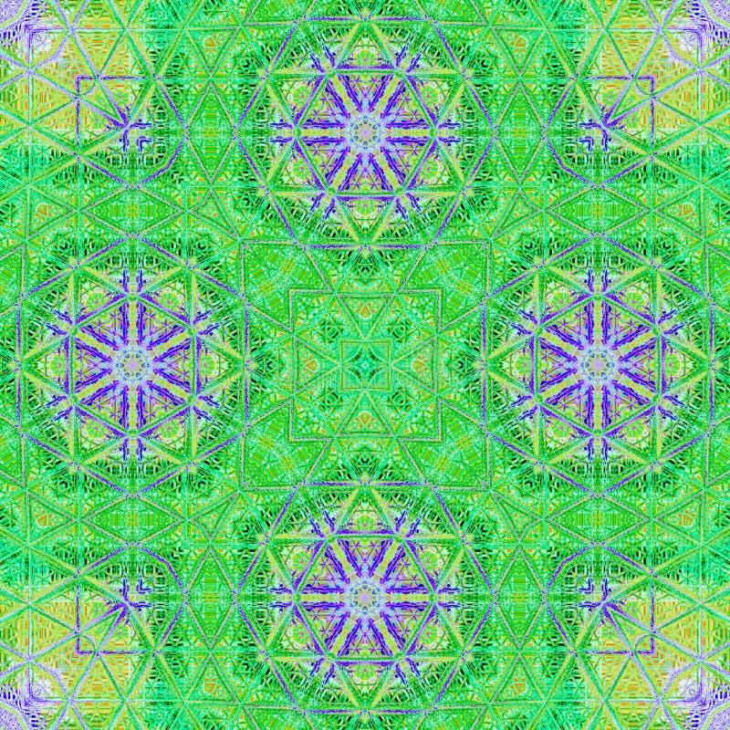 Neues Sommermit blumenmuster im Aquarellmotiv im grünen und violetten dekorativen Motiv lizenzfreie abbildung