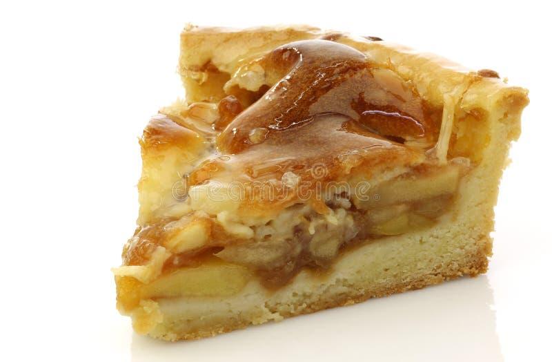 Neues Stück Apfelkuchen lizenzfreies stockbild