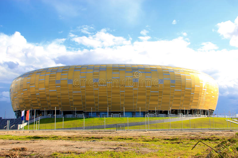 Neues Stadion in Gdansk stockfoto