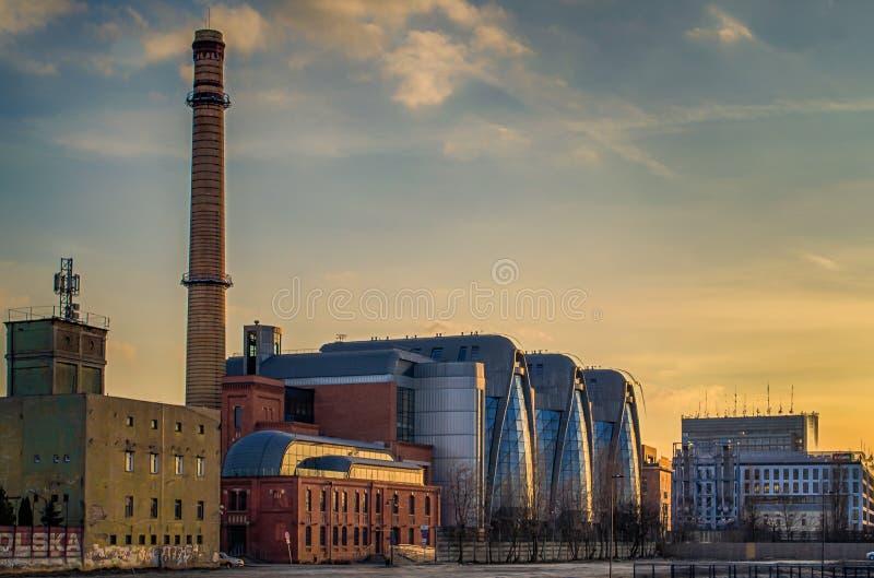 Neues Stadtzentrum von Lodz, Polen lizenzfreie stockfotos