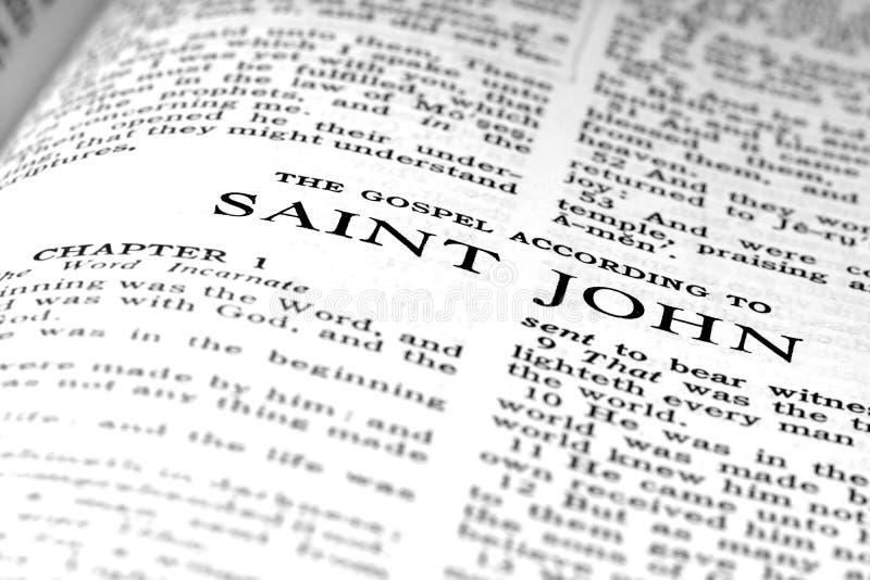 Neues Testament-Schrifts-Zitat-Evangelium von Johannes stockbilder
