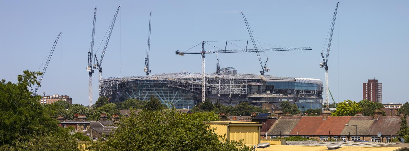 Neues Tottenham Hotspur Stadion im Bau stockbild