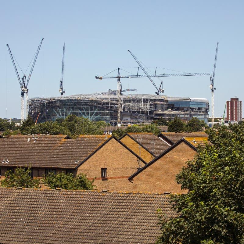 Neues Tottenham Hotspur Stadion in London stockfotografie