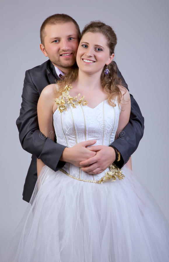 Neues verheiratetes Paar stockfoto