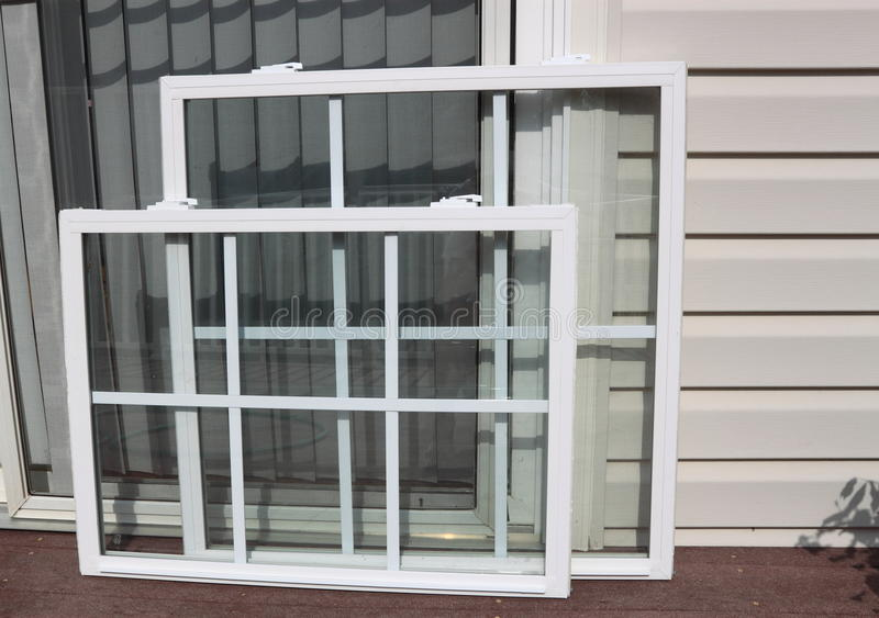 Neues Vinylfenster-Panel stockfotografie