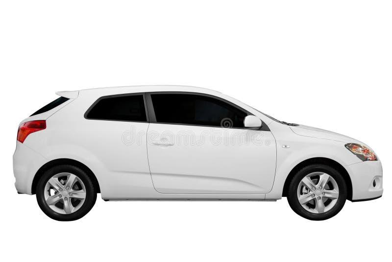 Neues weißes Auto lizenzfreies stockbild
