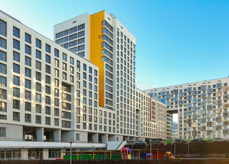Neues Wohnmittel Akvareli Stadt von Balashikha, Moskau-Region, Russland stockfoto