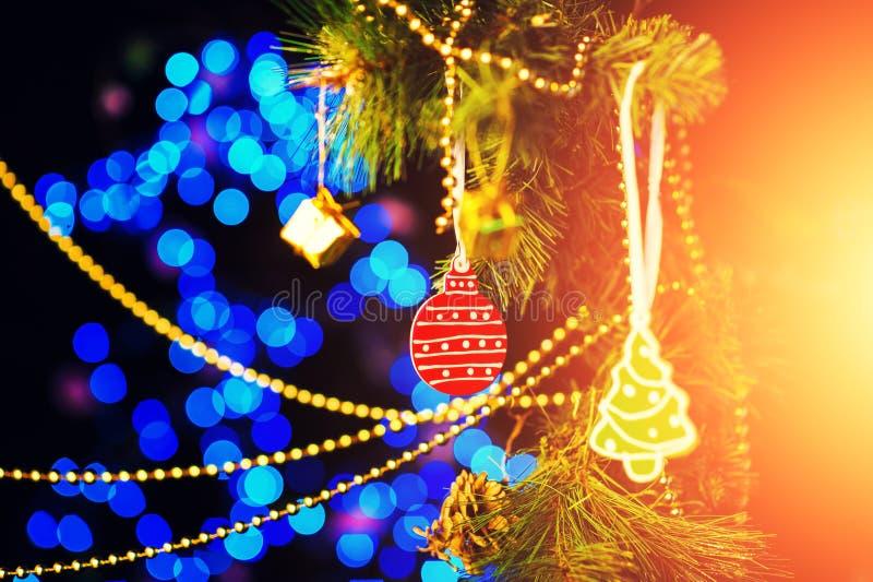 Neues Year' s-Weihnachtsbaum lizenzfreies stockfoto