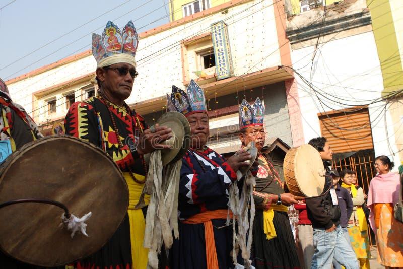 An neuf à Katmandou image libre de droits