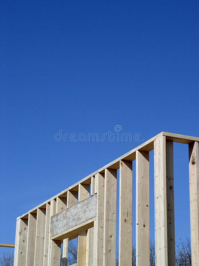 neuf à la maison de construction image libre de droits