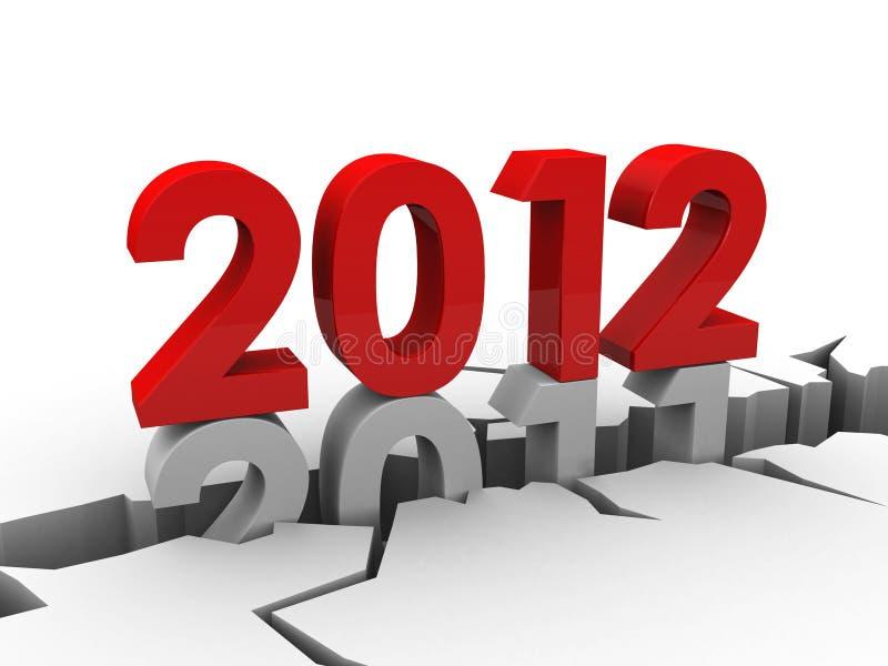 An neuf 2012 illustration stock